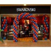 Оформление шарами магазина в торговом центре