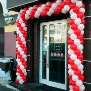 """Арка из шаров на вход в магазин буквой """"П"""" 7 метров"""