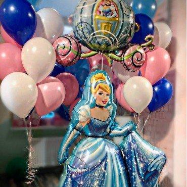 Комплект шаров принцессы дисней с золушкой и фонтанами