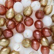 Шарики под потолок белый, медный и золотой хром микс 10 шт.