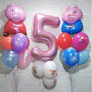 Набор шариков Свинка Пеппа на 5 лет