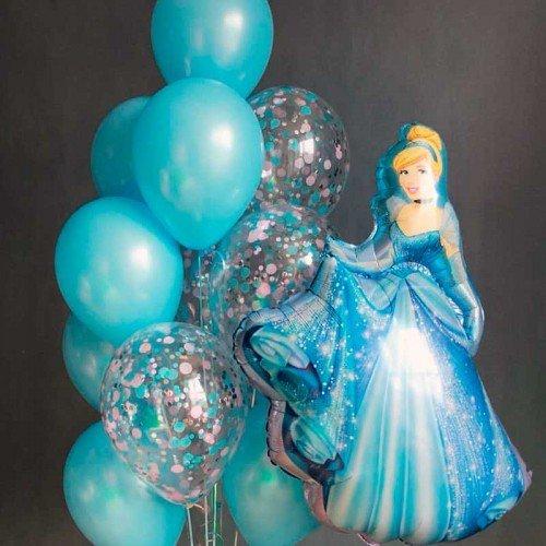 Оформление шарами с фигурой Золушка принцессы дисней