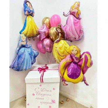 Набор шаров принцессы Дисней с коробкой-сюрприз