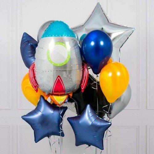 Набор шаров в стиле космос из двух фонтанов