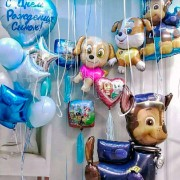 """Украшение  шарами для праздника щенячий патруль """"Супер команда"""""""