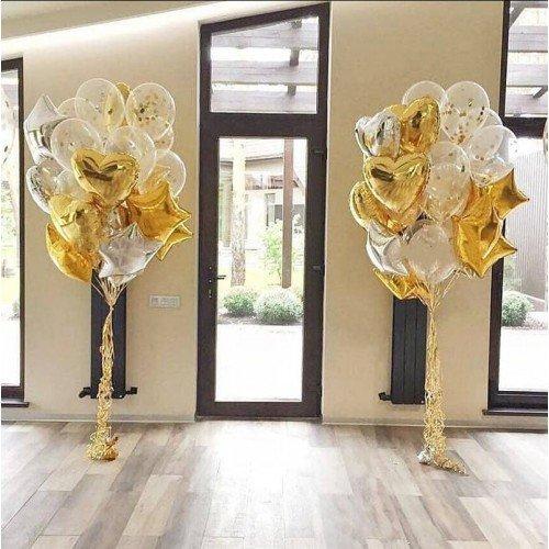 Свадебные фонтаны из шаров