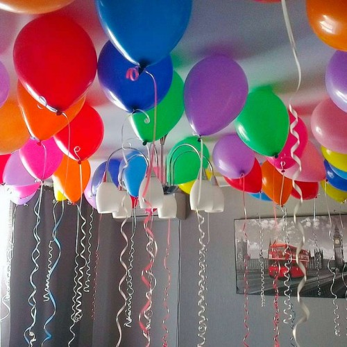 Шарики под потолок ассорти цветное