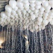 Шары под потолок белого цвета
