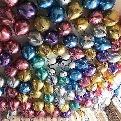 Шары под потолок хром разноцветный микс