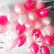 Шары под потолок Микс белый розовый малиновый