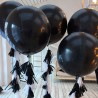 Большой воздушный шар гигант 60 см чёрного цвета 2