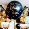 Большой воздушный шар гигант 60 см чёрного цвета 3