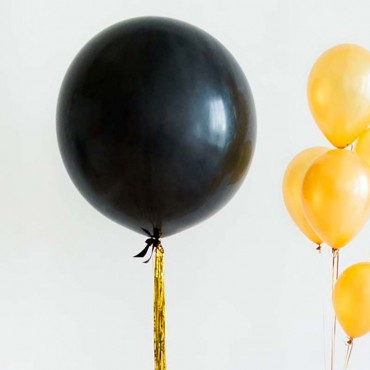 Большой воздушный шар гигант 60 см чёрного цвета