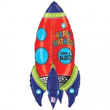 Шар - ракета объёмная в космической тематике