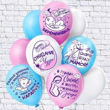 Гелиевые шары для девушки Беременяшка