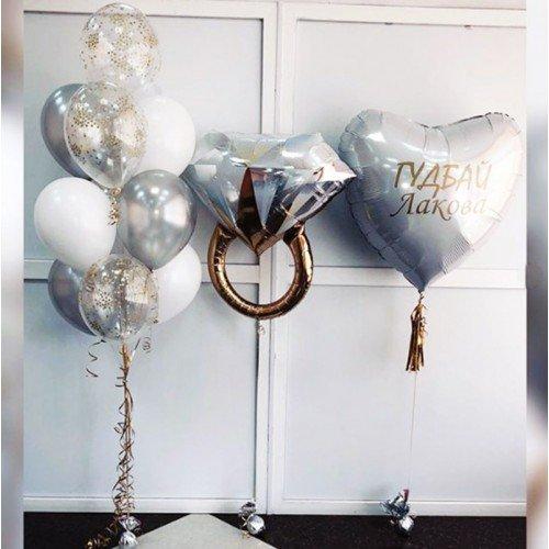 Свадебное украшение шариками с девичьей фамилией