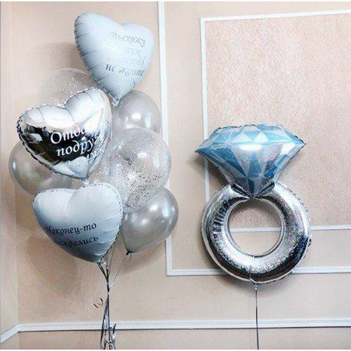 Украшение на свадьбу с индивидуальными надписями на шарах