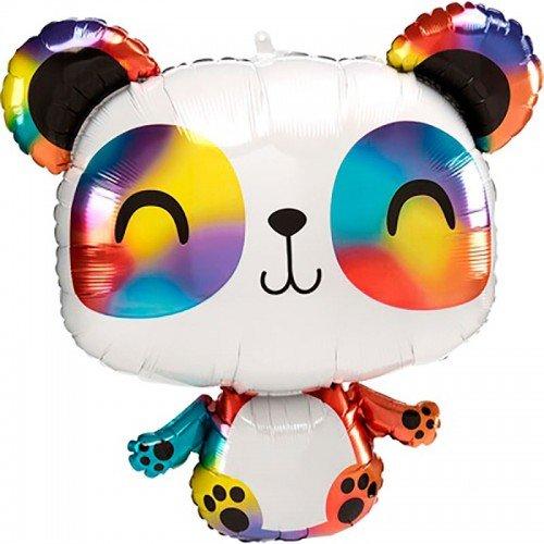 Фольгированный шар панда радужная