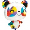 Фольгированный шар панда радужная 1