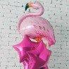 Фольгированный фламинго светло розовый 3
