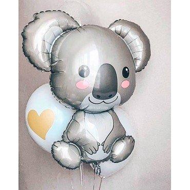 Фольгированный шар серая коала