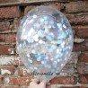 Шар с наполнением конфетти голубой микс 1
