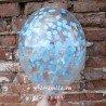 Шар с наполнением конфетти голубого цвета 1
