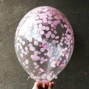 Шар с нежно розовым конфетти