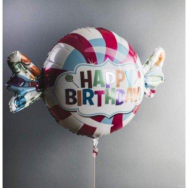 Фольгированный шарик конфета с днём рождения