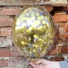 Прозрачный шар с конфетти золотого цвета 1