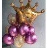 Фольгированный шар золотая корона 2