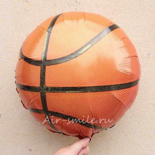 Фольгированный шар баскетбольный мяч