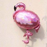 Фольгированный шар Фламинго голографический