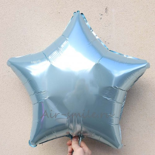 Звезда фольгированная голубого цвета