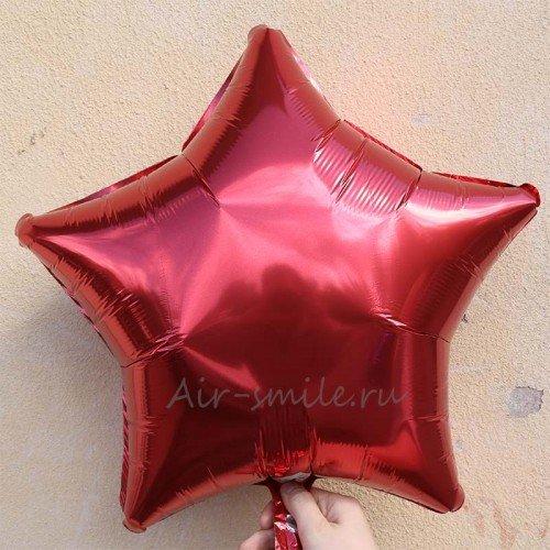 Звезда фольгированная красного цвета