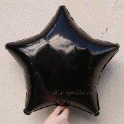 Фольгированная звезда черная