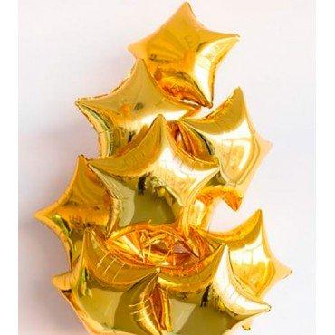 Звезда фольгированная золотого цвета