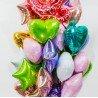 Фольгированное салатовое сердце