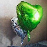 Фольгированное сердце салатовое