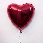 Фольгированное сердце бургундия