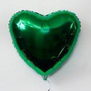 Фольгированное сердце зеленое