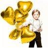 Фольгированное сердце с гелием золотого цвета
