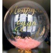 Шар Bubble с индивидуальной надписью Happy Birthday