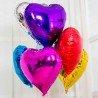 Фольгированное сердце фиолетовый металлик