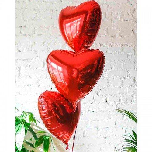 Сердце фольгированное красного цвета