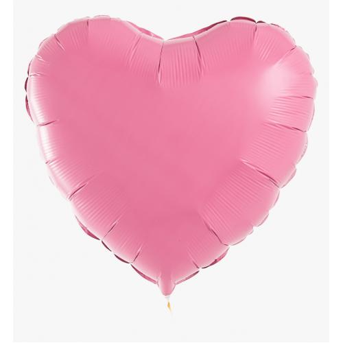 Сердце фольгированное пастель розового цвета