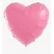 Фольгированное сердце пастель розовое