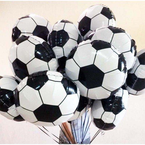 Фольгированный шар футбольный мяч в виде круга