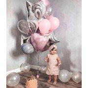 "Шарики на 1 годик для девочки ""Розовое облако"""