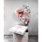 """Коробка с воздушными шарами """"Сказочный подарок"""""""